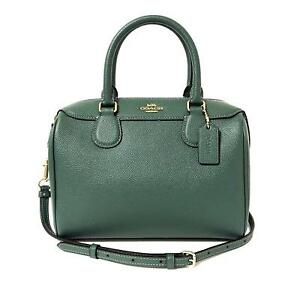 Turquoise portemonnee Womens 2 Coach tas Mini Bennett handtas 8246 lederen Green vymNwO8n0
