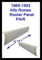 1966-1993 Alfa Romeo Spider Rocker Panels Pair