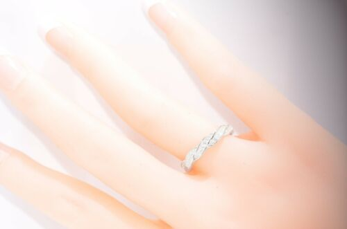 Infinity Celtic Round Simulated Diamond Genuine Sterling Silver Ring Size 4-10