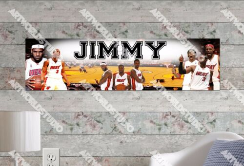Personalized//Customized Miami Heat Name Poster Wall Art Decoration Banner