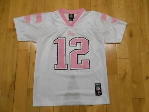 Details about Reebok TOM BRADY White Pink Girls NEW ENGLAND PATRIOTS NFL Youth Jersey XL