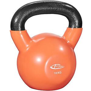Pesa-rusa-16-kg-Kettlebell-ejercicio-gimnasio-entreno-peso-redondo-vinilo-hierro