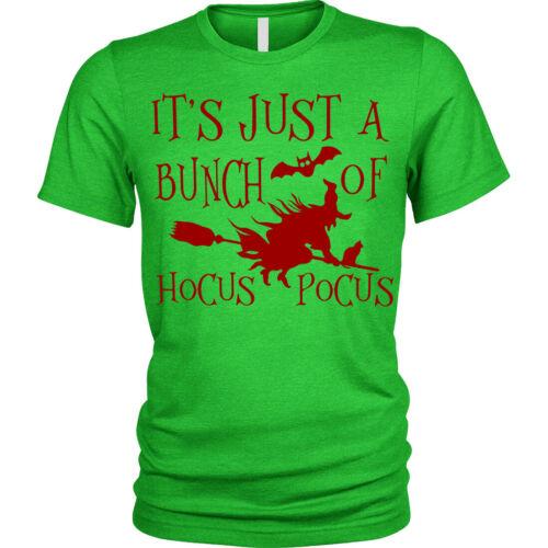 Hocus Pocus Halloween T-shirt Sorcière Balai Unisexe Hommes