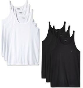 69095594f04baf New Mens Emporio Armani Regular Fit Pure Cotton 3-Pack Tank Top T ...