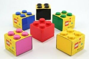 Mini Lego Aufbewahrungs 4 Ziegel Mehrere Farben Klein Kinder Snacks