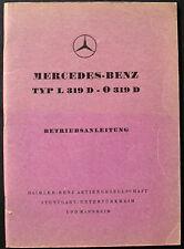 original Betriebsanleitung - MERCEDES-BENZ TYP L 319 D - O 319 D - Ausgabe 1957