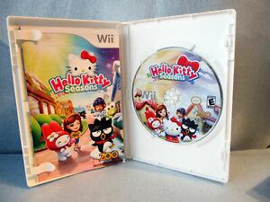 Nintento-Wii-HELLO-KITTY-SEASON-ZOO-Game-2010-Rated-E-amp-Instruction-Book-SD5
