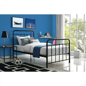 Image Is Loading Metal Bed Frame Headboard Footboard Child Bedroom Furniture