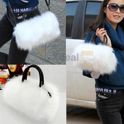 NEW Women Ladies Faux Rabbit Fur Handbag Shoulder Messenger Bag Cross Body Tote
