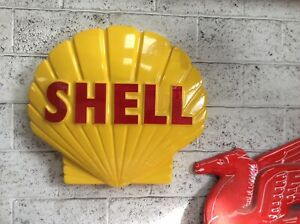 Shell advertising sign, mancave, barnfind