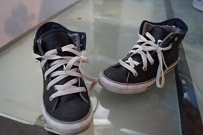 ALL STAR Converse Chucks Sneaker Schuhe Boots Gr.35 schwarz weiß Leder TOP | eBay