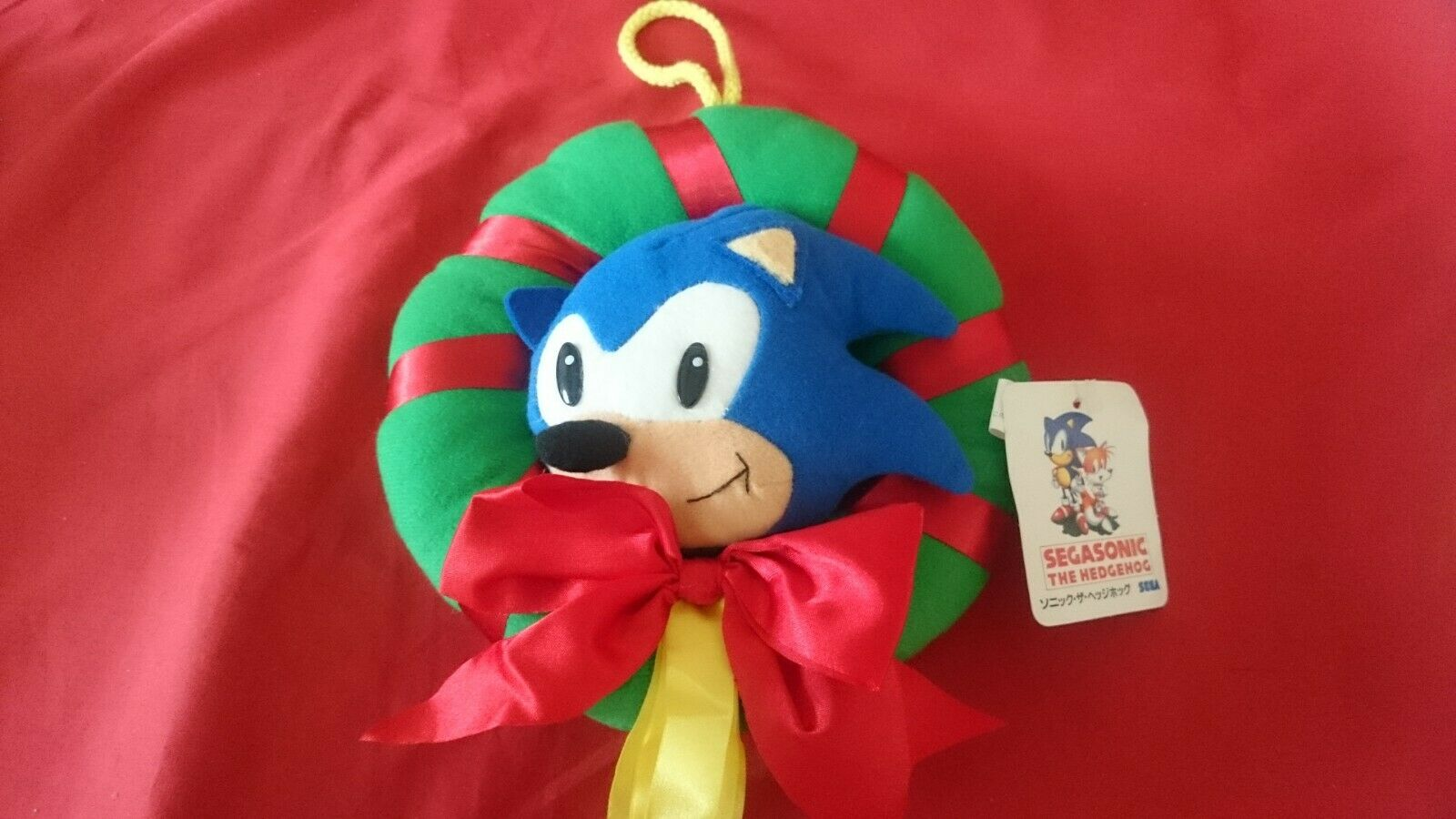 SEGA Sonic the hedgehog Plush Stuffed X'mas Christmas Wreath SEGA JAPAN 1994
