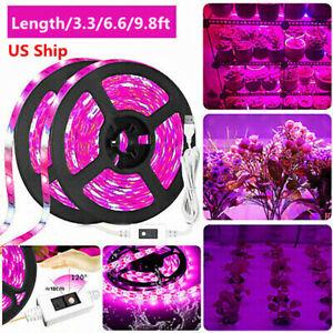 LED Grow Light Strip Waterproof Full Spectrum Lamp for Indoor Plant Veg Flowers