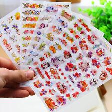 NT Flower Cats Birds Calendar Diary Book Sticker Scrapbook Decoration Planner