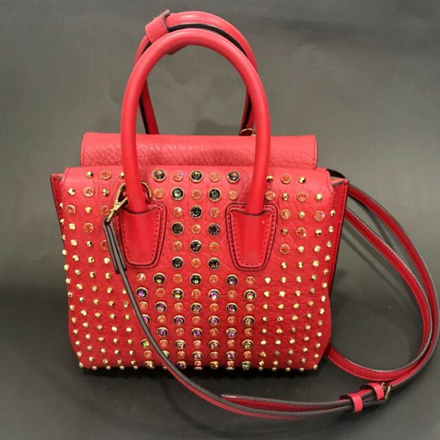 8a7cbe0410 MCM Ruby Red Mini Milla Crystal Ball Satchel Crossbody for sale ...