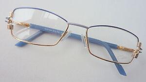 Cazal-Brille-Damen-Metall-mit-Kunststoffbuegel-52-16-gold-blau-zierlich-NEU-sizeM