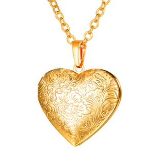 selección premium 0bf0a 6f685 Details about Collar para Mujer Oro Chapado 18k Cadena con Corazón Colgante  joyería de Moda