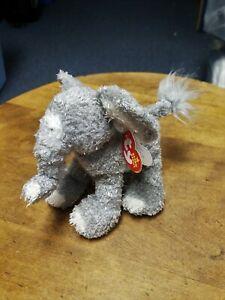 "2006 Ty Beanie Babies ""Tootoot"" The Elephant Fuzzy Plush Toy Animal MWMT"