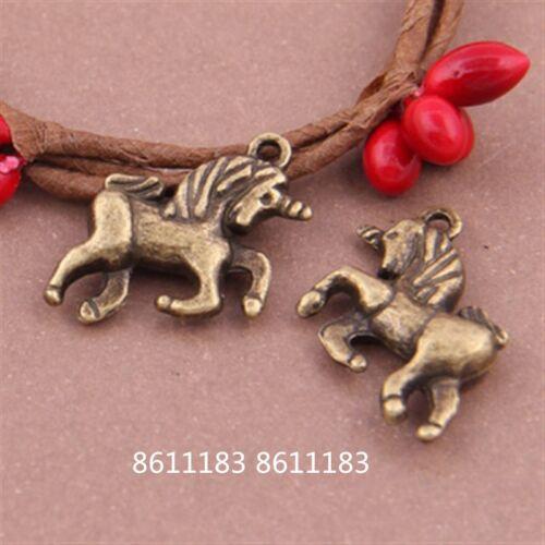 10pc Antique Bronze horse Animal Pendant Charms Jewellery Making GP406