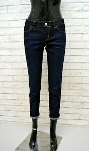 GUESS-Jeans-Blu-Corto-alla-Caviglia-Donna-Taglia-42-Pants-Woman-Pantalone-Denim
