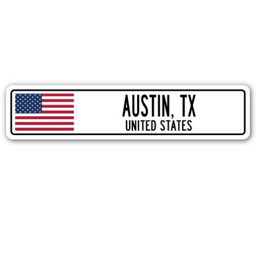 UNITED STATES Street Sign American flag city country gift AUSTIN TX