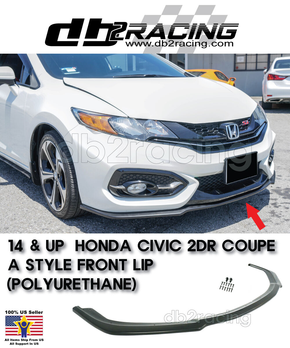 Fits 14-15 Civic 2dr A-Style Front Lip Urethane