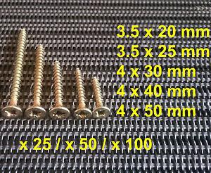 Wood Chipboard Screws Yellow Zinc Countersunk 3.5-4 mm Phillips Vis Bois Pozi - France - État : Neuf: Objet neuf et intact, n'ayant jamais servi, non ouvert, vendu dans son emballage d'origine (lorsqu'il y en a un). L'emballage doit tre le mme que celui de l'objet vendu en magasin, sauf si l'objet a été emballé par le fabricant d - France