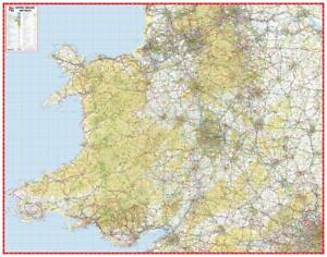 A Z Map Of England.Details About Central England Wales Road Map By A Z Maps Wall Map Paper 2019