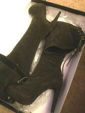 Victorias Secret Colin Stuart Faux Suede Over The Knee Boots Gray Size 7.5 NIB