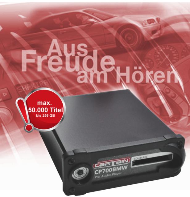 Cartain MP3-Player CP700BMW für BMW E60 E61 E63 E64 E87 E90 E91 E70 usw. B-WARE