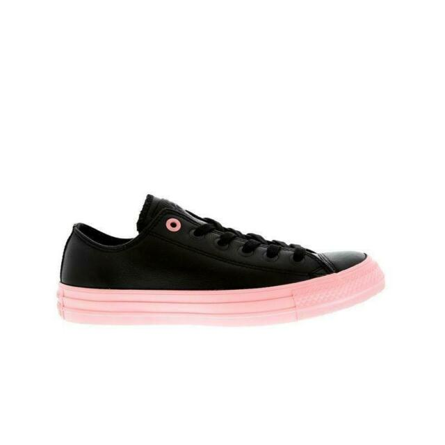 Womens CONVERSE CT OX Black Leather Trainers 552656C