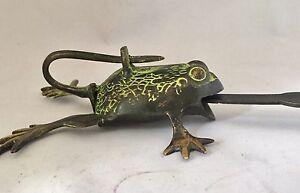 FROG-Head-LOCK-Big-Padlock-brass-keys-Golden-antique-look-Owl-Pad-Vintage-lion