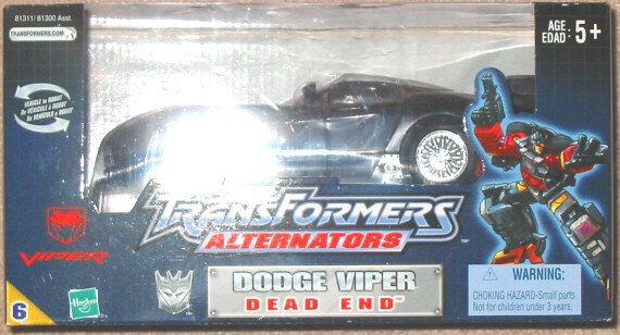 Transformers G1 Alternators Decepticon Dodge Viper Dead End MISB
