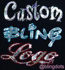 Custom Bling Company Team Logo Sequins Transfer No rhinestones Iron On Hot fix