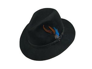 Waterproof foldable felt hat wide brim mens or ladies