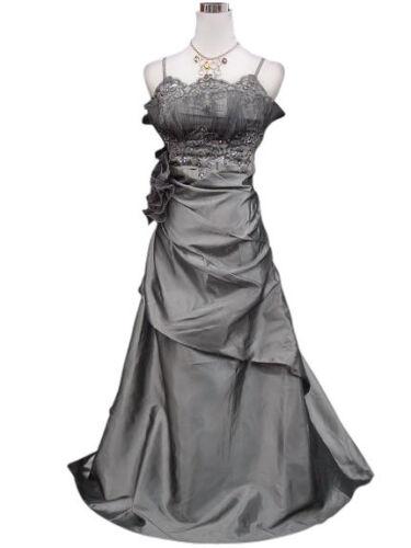 chic habillée Robe de soirée longue gala cérémonie cocktail mariage grise