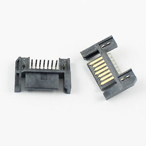 5Pcs Sata Type A 7 Pin Straight DIP Male Adapter Connector For Hard Drive HDD