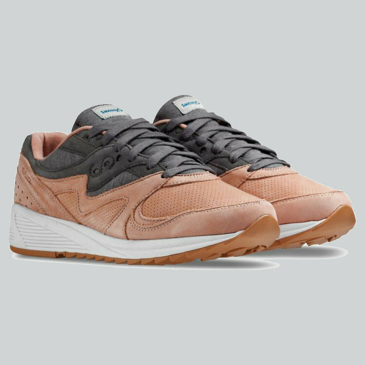 SAUCONY GRID 8000 SALMON   CHARCOAL UK8 BNWT