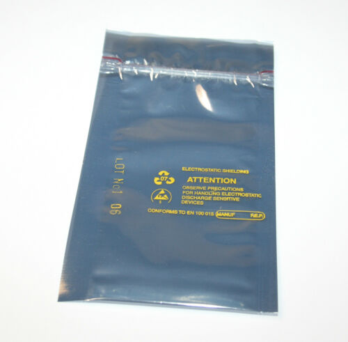 Antistatik ESD Beutel 60x110mm mit Druckverschluss 10 Stück ideal f Laptop RAM