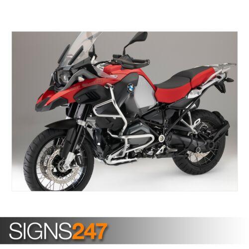 AC490 Vélo Poster-Poster print ART A0 A1 A2 A3 BMW R1200GS ADVENTURE RED