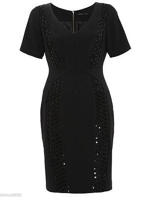 NEW M/&S Black White Monochrome Fit /& Flare Summer Tea Dress Sizes 6-18