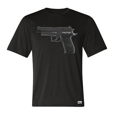 """EAKS® HERREN T-SHIRT """"Motiv: Sig Sauer P226"""" bl Pistole 9mm Polizei Militär Army"""