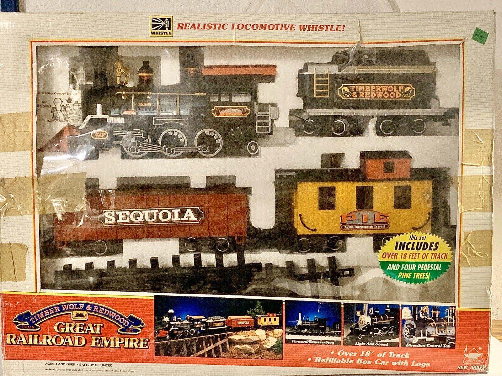 VINTAGE Ferrovia Gree Impero TIMBER WOLF & rossowood Treno Set  189 da collezione LEGGERE