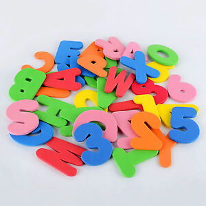 New Bathroom Toys For Kids Baby Bath Floats 26 Letters 10 Numbers Foam Floating