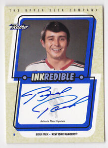 99-00-Upper-Deck-Retro-Brad-Park-Auto-INKREDIBLE-NY-Rangers-1999