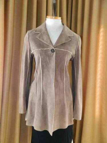 CHANEL Jacket Deer Skin Suede Chanel Horn Button … - image 1