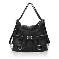 2 in 1 Women Hobo Shoulder Bag Designer Washed Leather Backpack Daily Handbags