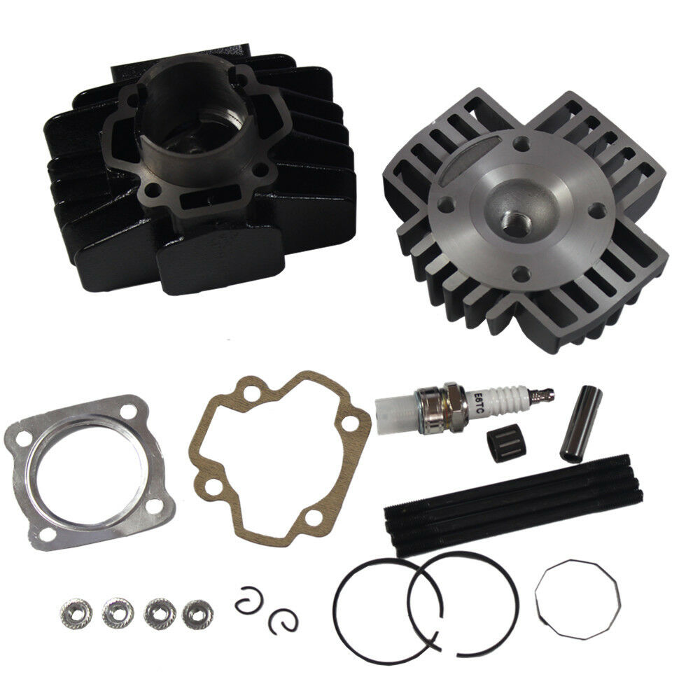 JDMSPEED New Cylinder Piston Gasket 60cc Big Bore Top End Kit for Yamaha QT50 1979-1987 PW 50