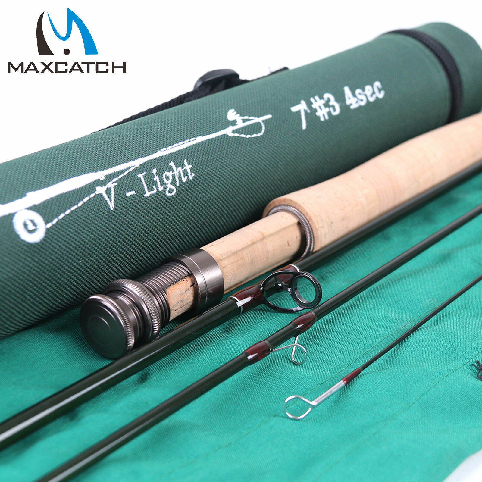 Maxcatch 1 2 3WT Fly Fishing Rod 6'   6'6   7'   7'6  Graphite IM10 Small Creek