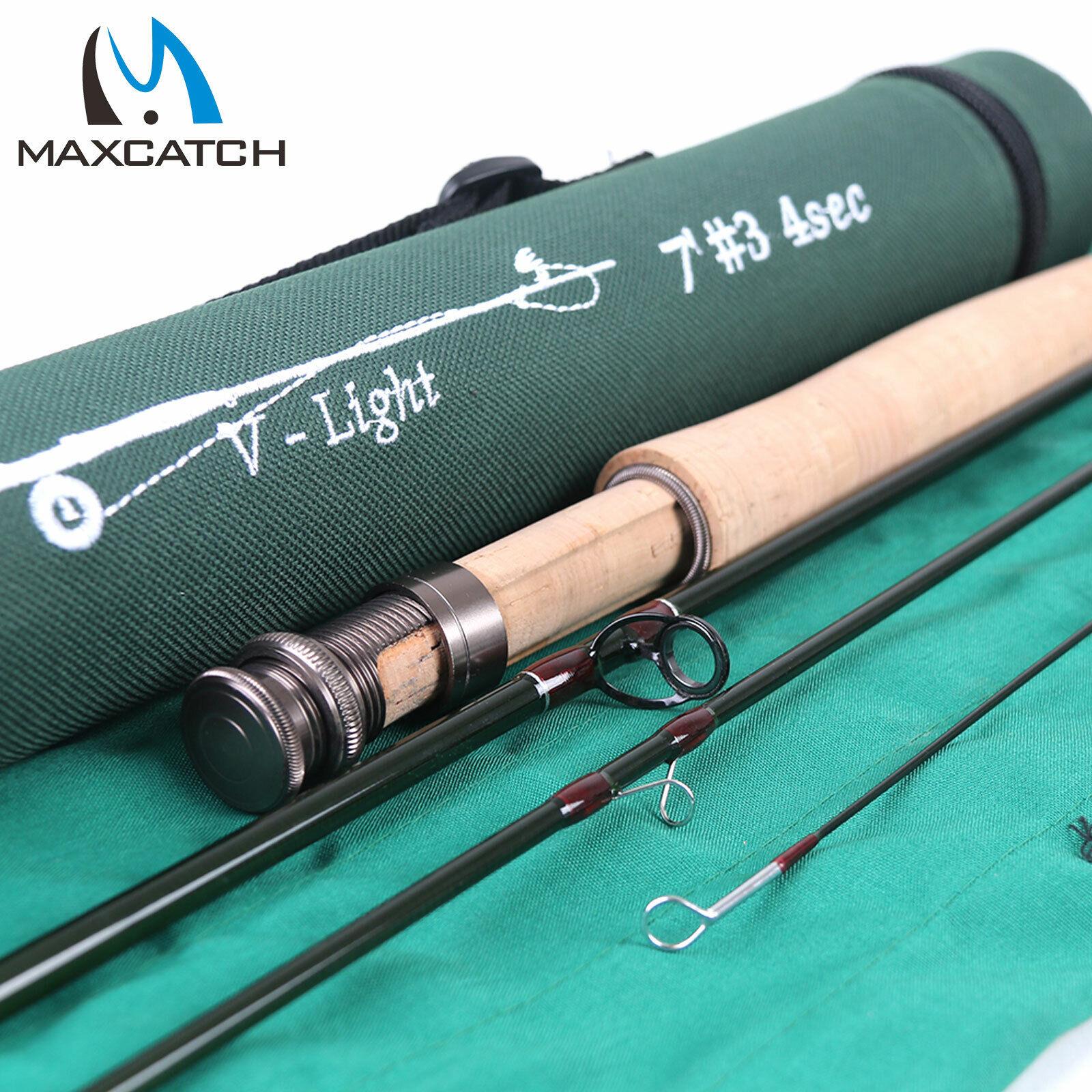 Maxcatch 1 2 3WT Fly Fishing Rod 6'   6'6   7'   7'6  Graphite IM10 petit Creek